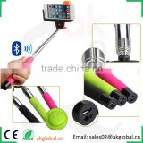 Top quality telescopic selfie stick with bluetooth shutter button foldable selfie monopod support ios android smart devices