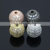 Grade AAA 8mm Natural White Zircon Balls With 24k Gold Plated CZ Jewelry