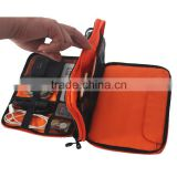 New fashion double layer cable organizer travel bag usb cable packaging hard drive bag
