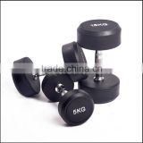 Crossfit Home Gym Equipment Body Building Hammer Strength Round Rubber Coated Dumbbell Set
