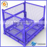 [ZZ-0008]top quality stackable metal steel storage cage,foldable wire mesh container box