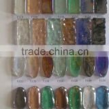 Various color beach stone and pebble glass mosaic