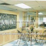 iron frame and glass palate desk and chairs table best-selling metal furniture