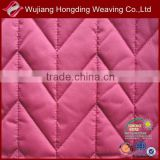 100% polyester microfiber quilted fabric for coat