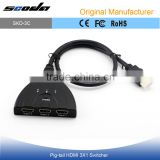 Wholesale HDMI Bi-Direction 3x1 switcher 1x3 splitter pigtail support 4K 340Hz with USB cable