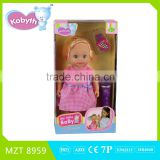 2016 New !Own Design High Quality PVC 13 inch Baby Doll+Music Microphone+Bracelet+Comb kids toys MZT8959
