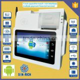 7 Inch Android RFID POS Terminal with Touch Screen,Barcode Scanner,Wifi,Bluetooth,Free SDK,Card Reader