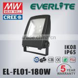 Best selling IP65 ADC 12 Die-casting Aluminium Alloy Body 180w outdoor Led Flood light 5 years warranty