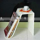 modern top acrylic floor coffee tables with bookends