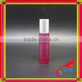 15ml tube glass vial red colored glass roll on bottle mini roll on perfume bottles