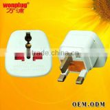 Wholesale UK Converter Plug With Universal Socket With Fuse And Safety Shutter Factory Price & CE Certification
