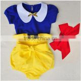 wholesale baby clothes supplier kids shirt and shorts with Head band