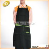 Adult black plain cotton Canvas bib Aprons