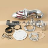 Aluminum Air Cleaner Kits Intake Filter For Harley Touring Glide FLTR FLHT 08-12