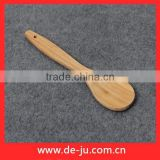 Round Shaped Smooth Bamboo Ladle Shovel Spoon