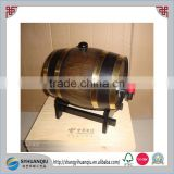 VINTAGE WOODEN BARREL CASK KEG CANTEEN with stand CN