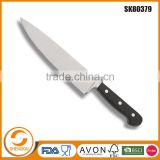 Professional 8 inch stainless steel kitchen chef knife in ABS handle