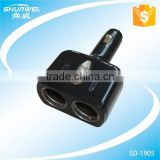 SHUNWEI 2 port rotation Car Socket with handle