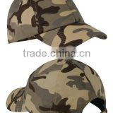 100% Washed Cotton Twill Low Profile Camouflage Caps Custom Printed Military Camo Baseball Caps Blank Desert Camo Baseball Caps