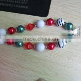 fashion girl pendant chunky bubblegum necklace wholesale rainbow chunky statement necklace for girls