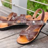 zm35383a 2017 men leather beach sandals wholesale slippers