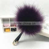 10cm fur keychain quality plush ball llaveros chaveiro faux fur fashion cute metal key chain for women bag ring wholesale price