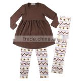 Kids 3pcs Baby Girls Boutique Clothing Set Cotton Turkey pattern children Thanksgiving Outfits