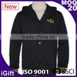 Wholesale high quality zip up hoody ribbed cheap button up baseball jackets