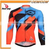 BEROY china manufacturer cheap cycle shirts, 100% polyester long sleeve biking jersey new arrival