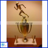 metal trophy running man