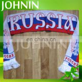 2018 World Cup Custom Made Knitted Soccer Fans Use Russia Fans Scarf