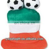 Custom Ball Caps, Italy Football Cheerleading Cap With Three Balls