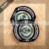 custom school logo uniform embroidery woven badge patch