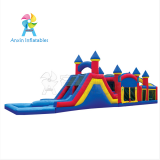 Cheap outdoor kids inflatable bouncer obstacle course equipment