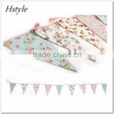 New Design Floral Triangle Flag Bunting PL509