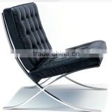 Barcelona chair with foot stool American style furniture                                                                         Quality Choice