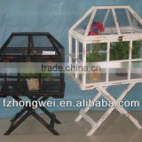Hongwei antiquated Garden Wood&PVC Planters/ green house