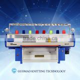 Double System computerized flat jacquard knitting machine for home use