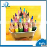 sharpened colored pencil in metal tin tube