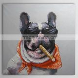 Hot item Cool dog with a cigar in the mouth canvas wall art oil painting for home decoration