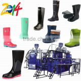 rotary two color PVC rain boot shoes making machine price in dongguan                                                                         Quality Choice