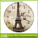 eiffel tower desktop clock decoration