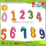 Non-toxic early learning wooden toys number game funny colorful magnetic number for kids