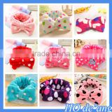 Hogift cute bow shaped coral velvet headband girls hair bands hair accessories wholesale MHo-164