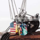 Ball Chain Metal Charm Necklace with Various Pattern Print
