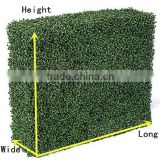 PVC Coated Frame Finishing and Nature Pressure Treated Wood Type artificial boxwood hedge