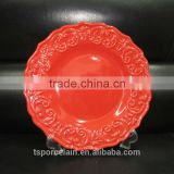 Wholesale cheap bulk food stoneware & porcelain plate,ceramic salad / dessert / soup / dinner plates