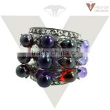 925 sterling Silver Amethyst Ring, Pave Diamond Expensive Ring Jewelry Wholesale Jewelry Supplier