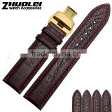 Durable men women Genuine cowhide Leather strap watch 18mm 20mm 22mm watch strap leather