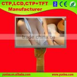 7.0 inch 800(RGB)*480 horizontal matrix small size lcd monitor with backlight